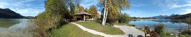 Weissensee, 180° von N bis S. ©UdoSm
