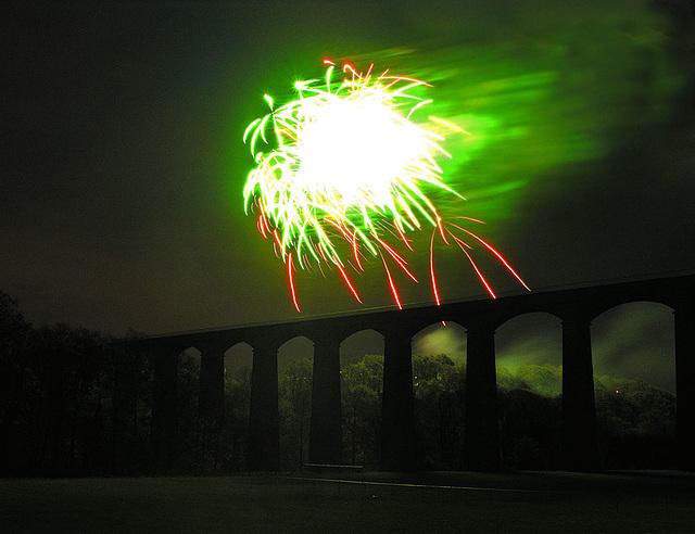 Fireworks at Pontcysyllte