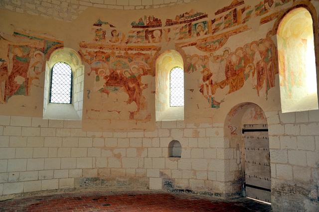 Fresques romanes de la Chapelle du Liget (XIIe s.)