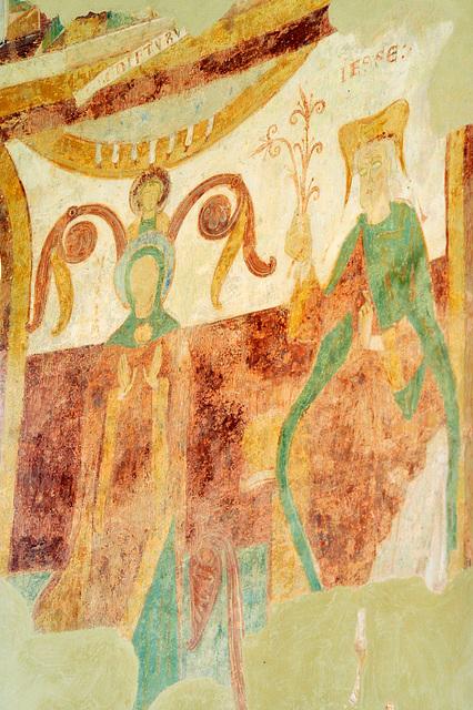 Généalogie de la Vierge - Fresques de la Chapelle du Liget (XIIe s.)