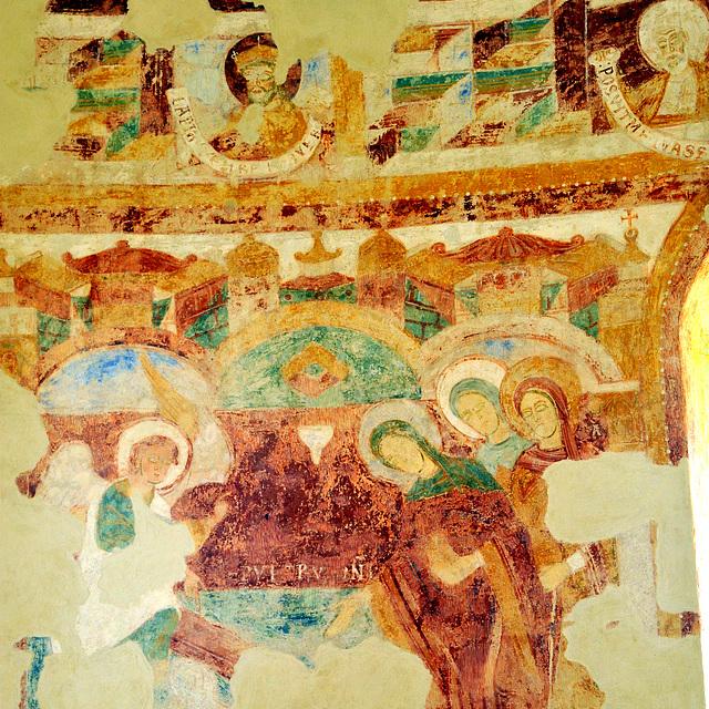 Le sépulcre du Seigneur - Fresques de la Chapelle du Liget (XIIe s.)