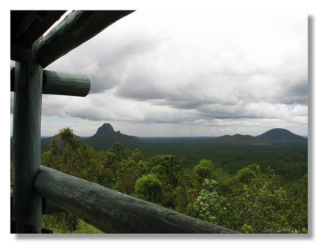 Tibrogargan's Wrath - Storm Clouds Over Glasshouse Mountains, Queensland, Australia
