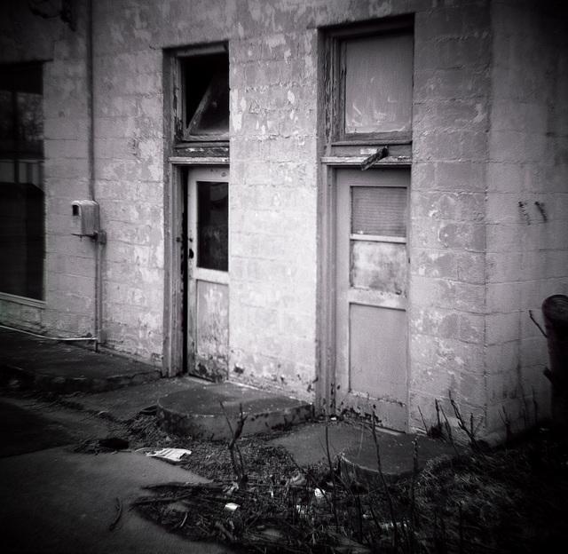 Abandoned Gas Station Restrooms