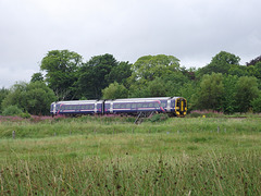 158702 takes the Kyle branch at Dingwall Jct.