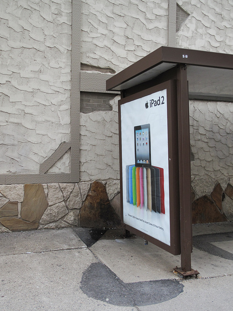 The idea of trotting your fruit-flavored ipad to a urine-scented bus stop shelter outside the Best Western in downtown Minneapolis, to linger there with it for awhile.