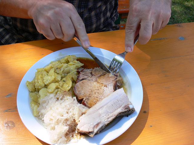 Guten Appetit beim Backofenbraten