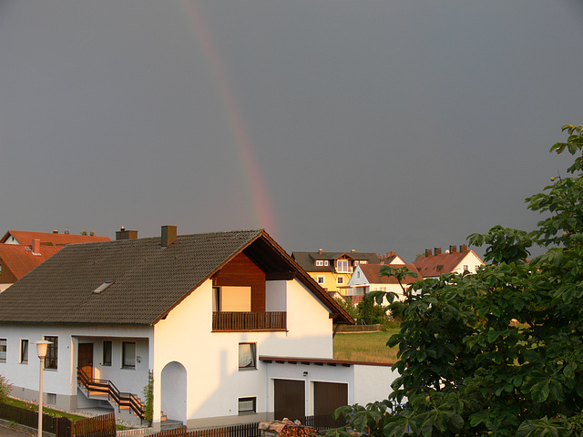 Regenbogen zum Tagesausklang
