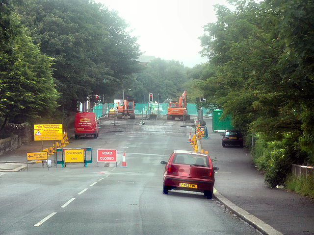 construction road works