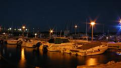 SAINT-RAPHAEL: Le port de nuit.