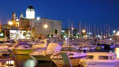 SAINT-RAPHAEL: Le port de nuit