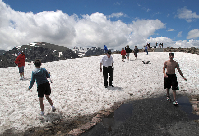 The novelty of July snowpack is an invitation to snowpack tourism.