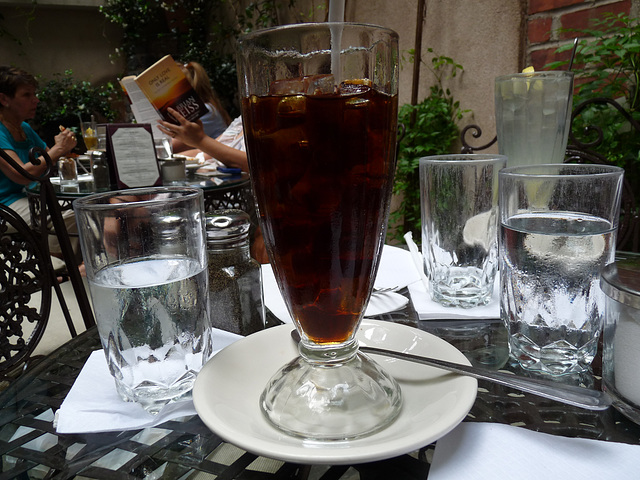 iced coffee at La Lanterna