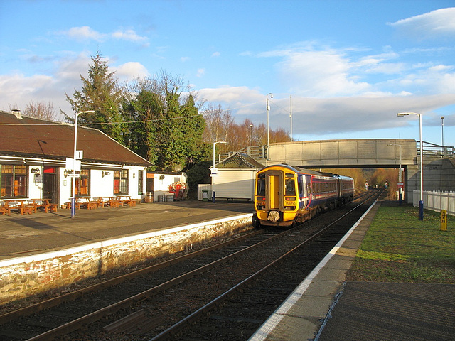 158710 departs Dingwall for the West