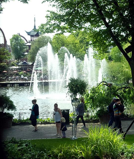 Springbrunnen im Tivoli