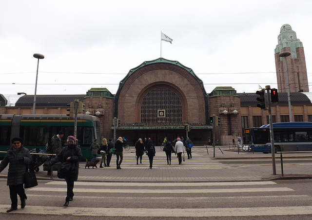 The Central Train Station in Helsinki, April 2013