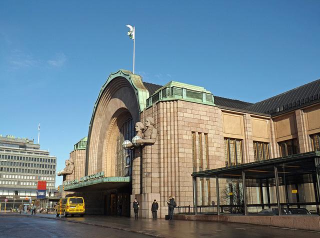 The Central Train Station in Helsinki, April 2013