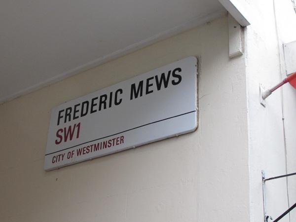 Frederic Mews SW1