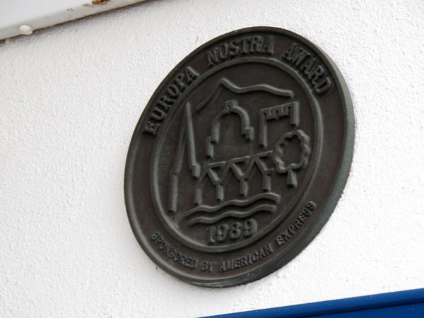 Europa Nostra Award plaque