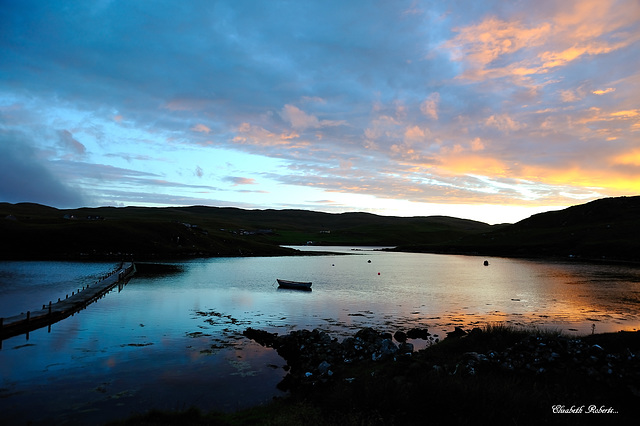 Sunset over Shetland.