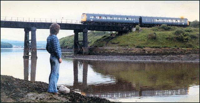 train at Black Bridge