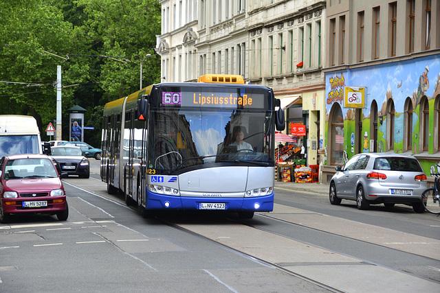Leipzig 2013 – Solaris Urbino U12 bus on line 60 to Lipsiusstraße