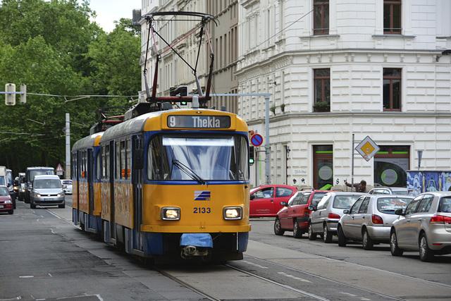 Leipzig 2013 – Tram 2133 on the Arthur-Hoffmann-Straße