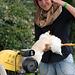 Julie plucks a duck