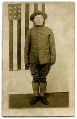 World War I Soldier with Flag