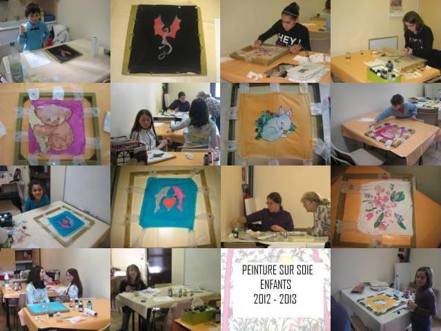 Peinture sur soie - 4 et 5/03/2013