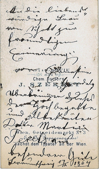 Ernestina Gindele's autograph at the back
