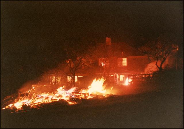 Bonfire Night bonfire