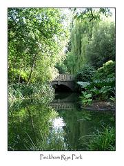 Peckham Rye Park bridge - 7.8.2007