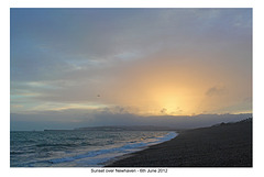 Sunset over Newhaven 6.6.2012