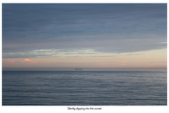 Silently slipping into the sunset - beyond Seaford Bay - 5.7.2012