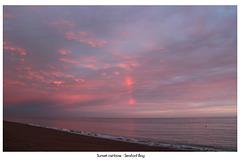 Sunset rainbow - Seaford Bay - 5.7.2012