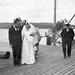 (112) Brudeparet Hilma (Svendsen) og Signold Solem, 16. august 1950, foran Saudafjord
