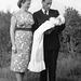 (132) Hilma og Signold Solem, med dåpsbarnet Jan-Thore Solem, 24. august 1958