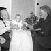 (137) Magnus og Johanna Kroken, med dåpsbarnet May Grønneberg, 2. august 1958