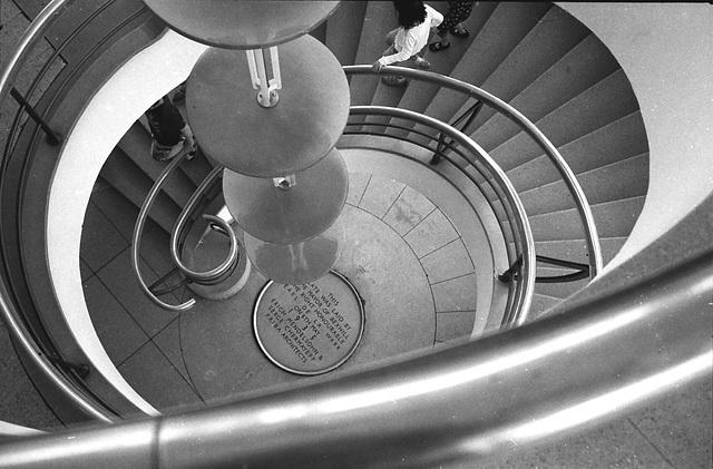 Staircase, De La Warr Pavilion. Bexhill-on-Sea.