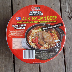 """Chinese soup noodles """"Australian Beef flavour"""""""