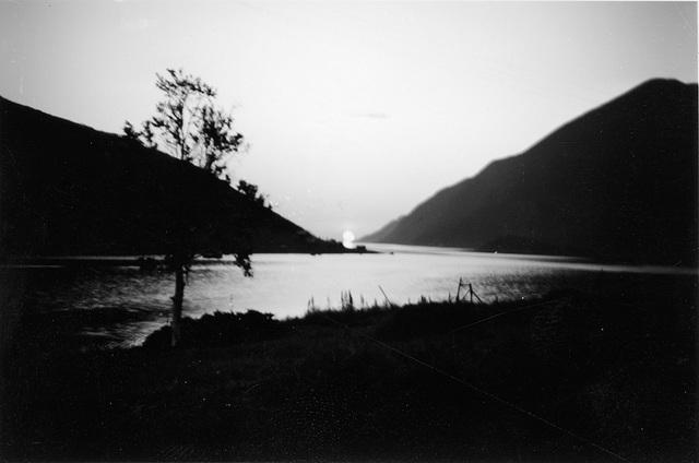 (196) Solnedgang fra Bergum