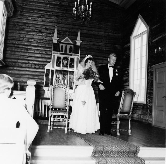 (198) Bjørg Edøy og Noralf Harbakk, Hillesøy kirke, Austein, 27. februar 1959