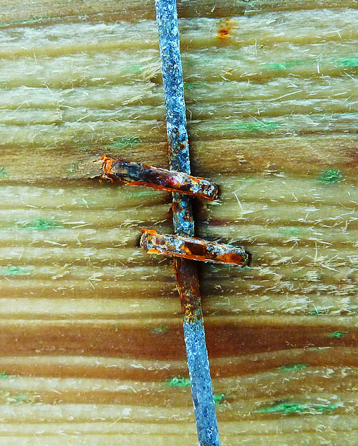 Wood and rust