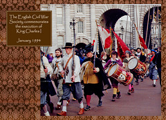 ECWS Foot, drums & standards Admiralty Arch January 1994