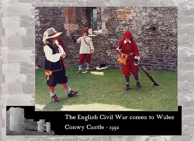 ECW re-enactors at Conwy Castle 1992 10