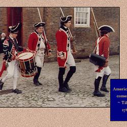 American War of Independence - Tilbury Fort - British Regiments of Foot