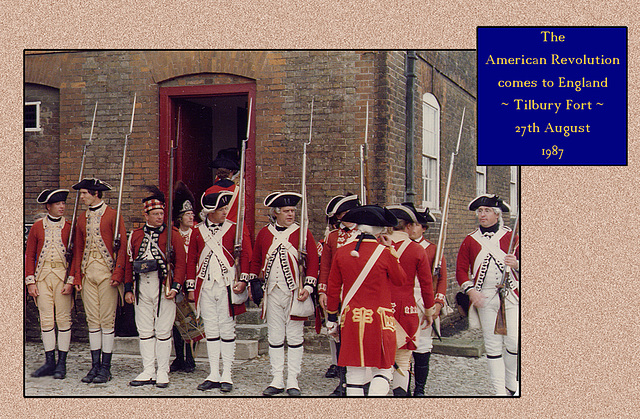 American War of Independence - Tilbury Fort - various British Regiments of Foot