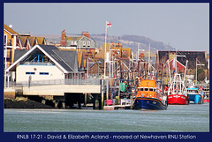 Newhaven Lifeboat RNLB 17-21 on station - 5.3.2012