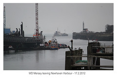 WD Mersey leaving Newhaven Harbour - 17.2.2012
