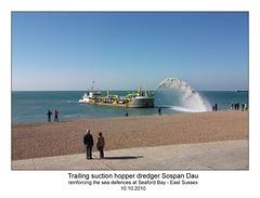Sospan Dau suction dredger Seaford 10.10.10